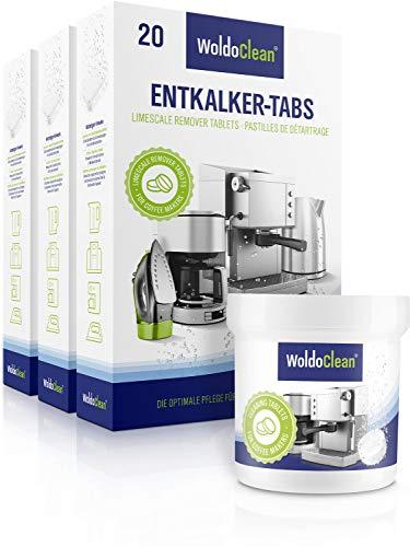 Pflegeset für Kaffeevollautomaten Entkalkungstabletten 60x 16g und 40x 2g Reinigungstabletten