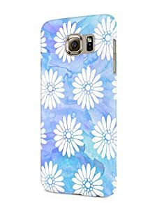 Cover Affair Floral / Flowers Printed Designer Slim Light Weight Back Cover Case for Samsung Galaxy S6