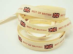 4M x15mm Best of British ribbon (Natural rustic taffeta style material)