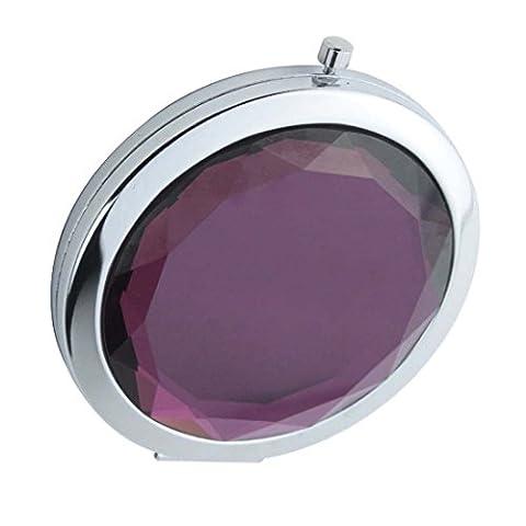 Ohcde Dheark Poche De Pliage Compact De Voyage Crystal Miroir, Violet