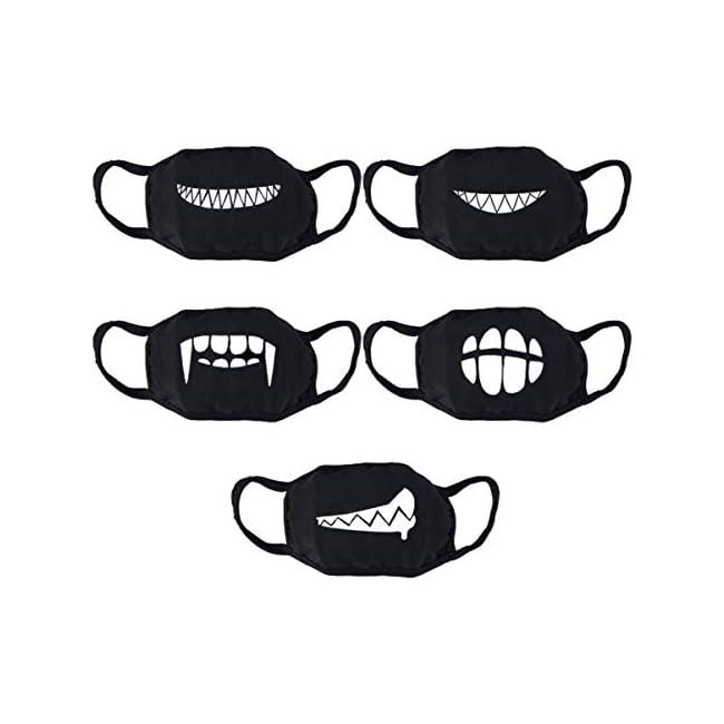 VORCOOL 5 Stück Anime Mundschutz Maske Baumwolle Anti-Staub Gesichtsmaske Mundschutzmaske