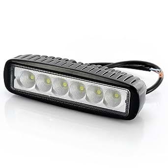 Projecteur LED 18W Epistar 6 pouces - Étanche / 6x bulbes 3W / 1200 lumens