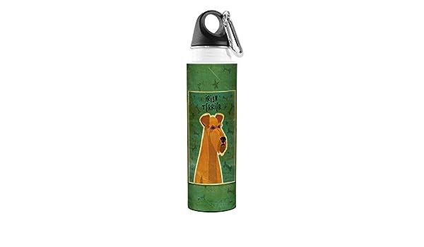 Golden Artful Traveler Stainless Steel Water Bottle Irish Terrier 18-Ounce Tree-Free Greetings VB47994 John W