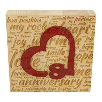 Anniversario Matrimonio 41 Anni.Blocco In Legno Di Faggio Per 25 Anniversario Di Matrimonio Con