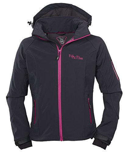 Fifty Five Damen-Softshell-Freizeit-Outdoor-Jacke - Merrit navy/magenta 44 - Funktionsjack