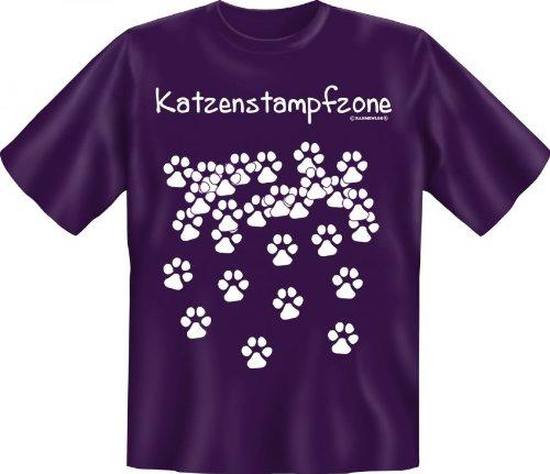 Rahmenlos fun-t-shirt: gatti Stamp fzone - idea regalo - 100% cotone - alta qualità, colore: Multicolore;Dimensioni: M