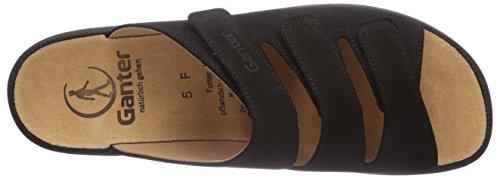 Ganter Selina, Weite F, Mules Femme Noir (schwarz 0100)