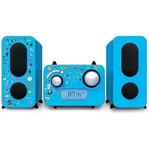Altoparlante di design musica stereo sistema CD FM radio giovane