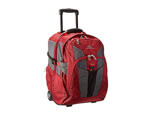 High Sierra XBT Rucksack mit Rollen, Unisex, 58002-4179, Carmine/Red Line/Black, Einheitsgröße - High Sierra Wheeled Backpack