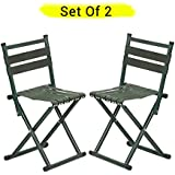 TIED RIBBONS Set of 2 Portable Folding Chairs for Camping Garden, Balcony, Terrace, Lawn(67 cm X 34 cm X 34 cm)