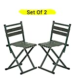 #4: TIED RIBBONS Set of 2 Portable Folding Chairs for Camping Garden, Balcony, Terrace, Lawn(67 cm X 34 cm X 34 cm)