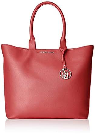 ARMANI JEANS donna borsa shopping 922535 CC856 00176 BORDEAUX UNICA BORDEAUX