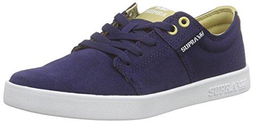 Supra Stacks Ii Unisex-Erwachsene Sneakers Blau (NAVY / KHAKI - WHITE NVK)