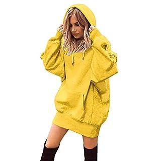 Aberimy Ausverkauf Damen Hoodie Sweatshirt Lange Ärmel Langarm Fashion Einfarbig Uni Tasche Riemchen Tuniken Bauchfrei Kapuzenpullover Casual Pullover Blusen Shirt Top