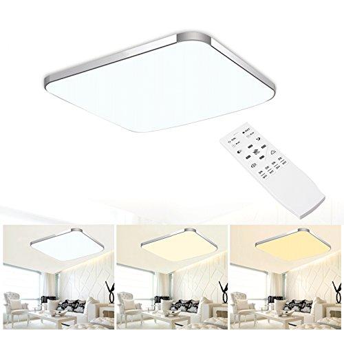 BAYTTER® 30W LED Deckenleuchte Deckenlampe 53 x 53cm warmweiß / weiß / Dimmbar