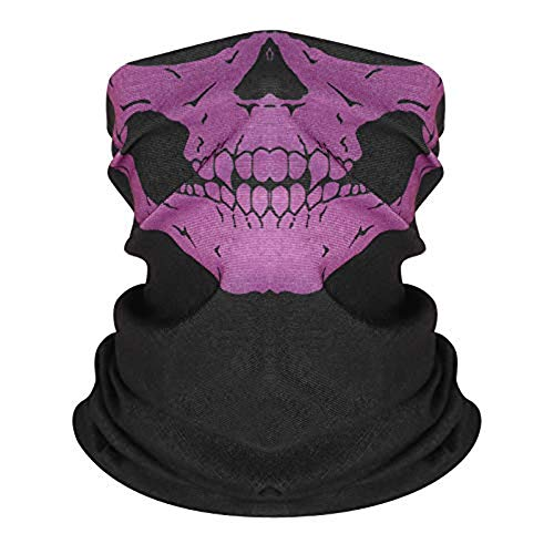 ruiyoupin Gesichtsmaske Halloween Skelettmasken Bandanas Outdoor Nahtlose Multifunktions-Magic Schal Karneval Kostüm Skull Maske Schädel Maske Sturmmaske Maske für Ski (Adventure Time Halloween Kostüm)