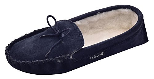 Lambland , Chaussons pour femme Beige beige 37 Bleu - Bleu marine