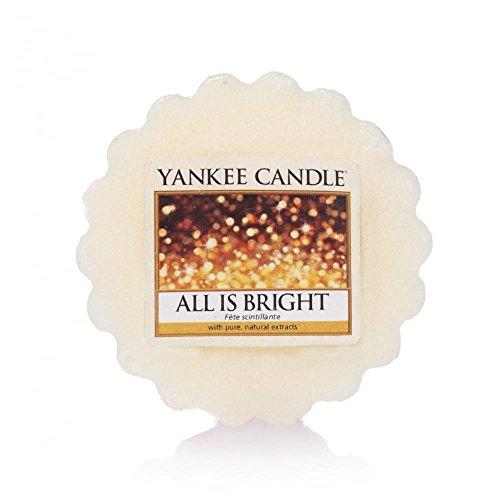 YANKEE CANDLE 1513542E Fête Scintillante tartelette, Cire, Blanc, 6 x 5,7 x 2 cm