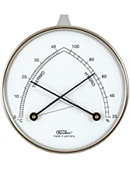Hygromètre synthétique avec un thermomètre, boîtier métallique, Ø 87 mm