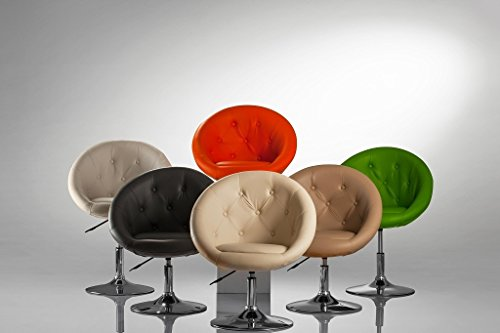 Sessel WEISS höhenverstellbar Kunstleder Clubsessel Coctailsessel Loungesessel - TYP 509A -