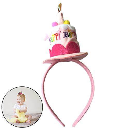 Zoylink Geburtstagstorte Stirnband Cartoon Hut Geburtstagsparty Headwear für Kinder