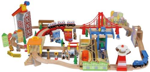 Small Foot Company - 8553 - Circuit De Train Miniature Et Rail - Chemin De Fer - Port