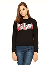 Vvoguish Black Star Printed Sweatshirt-VVSWTSHRT931BLK-XL