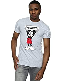 Disney Men's Mickey Mouse Believe T-Shirt