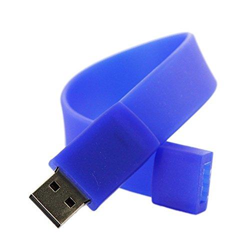Silikon-armband Usb-flash-speicher (USB Speicher Laufwerk - SODIAL(R) Fashion Silikon Armband USB 2.0 Flash Speicher Laufwerk (8GB Blau))