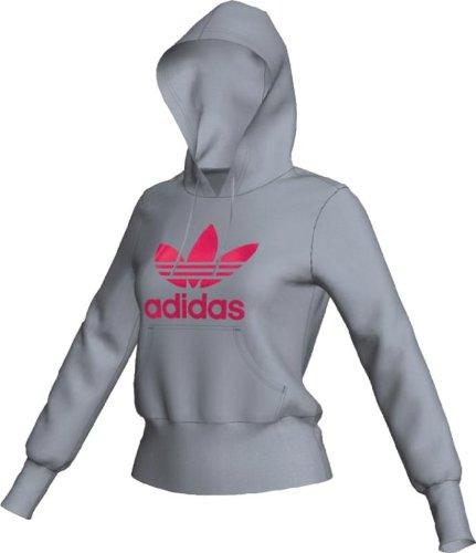 Adidas Damen Trefoil Hoody, damen, Silver, Fresh Pink