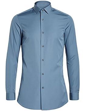 next Hombre Camisa De Algodón Corte Entallado