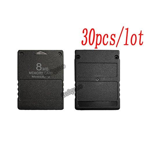30Stück/Viel Schwarzen Farbe Karten Passform für PS2Für Playstation 2Für PS 28MB 8m 8MB Memory Card für PS2Reparatur Teil