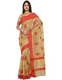 Sarvagny Clothings Women's Silk Cotton Saree With Blouse Piece (100%Pure_Golden)