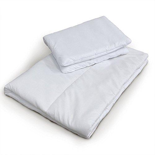 2 pcs FILLED PILLOW+QUILT/DUVET NURSERY BEDDING SET COT BED 120x90cm/135x100cm (120x90cm)
