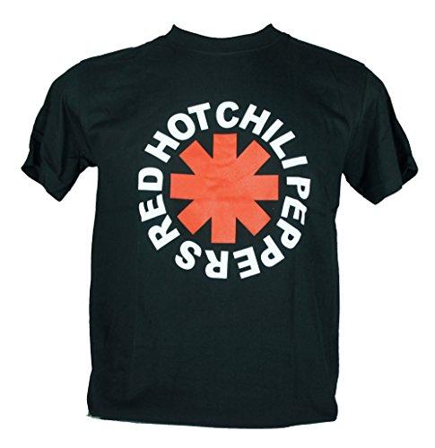 Red Hot Chili Peppers-Maglietta da uomo nero RHCP Medium Size M