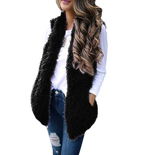 Clearence!!!Sonnena Women Newest Sexy Sleeveless Warm Vest Waistcoat Lady Faux Fur Solid Casual Coat Outwear
