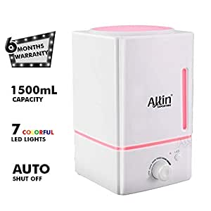 Allin Exporters Dt-1618 Ultrasonic Diffuser & Humidifier Safe To Use With Essential Oil- 1500 ml Tank Capacity