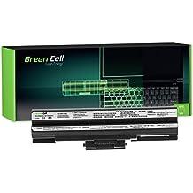 Green Cell® Standard Serie Batería para Sony Vaio PCG-31311M PCG-3C1M PCG-3D1M PCG-7161M PCG-7181M PCG-7186M PCG-61111M PCG-81112M PCG-81212M VGN-FW VGN-NW SVE11 Ordenador (6 Celdas 4400mAh 11.1V Negro)