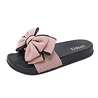 Huaya Damen Slipper Sommer Bogen Knoten Slipper Mode Beiläufig Strand Schuhe