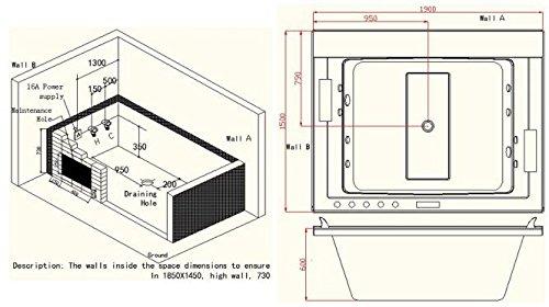 Whirlpool Badewanne C653 Whirlwanne Vollausstattung mit Heizung - 5
