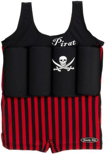 Jungen Schwimmen Badeanzug (Beverly Kids Jungen UV Schutz Bojen-Badeanzug Captain Jack, rot/ schwarz, 92, 20044)