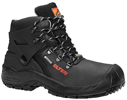ELTEN Renzo Biomex GTX S3 CI Herren Sicherheitsschuhe, Arbeitsschuhe, Sicherheitsschnürstiefel, Zertifiziert nach EN ISO 20345 : S3 CI, Stahlkappe, Gore-Tex, Kälteisolierung (Schwarz), EU 45