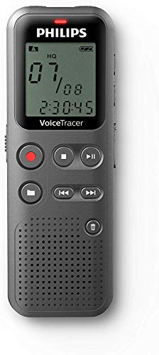 Philips DVT1110 digitales Diktiergerät zur Aufnahme von Notizen, Ideen und Gedanken unterwegs, 4 GB, USB-Anschluss, Silber