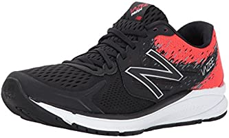New Balance Men's Prism V2 Black and Red Running Shoes - 9 UK/India (43 EU) (9.5 US)
