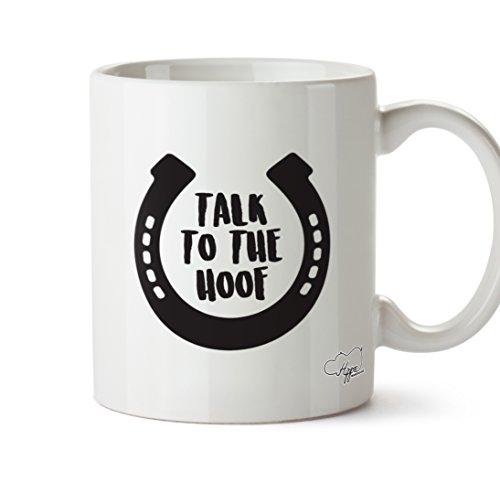 hippowarehouse Talk To The Huf Reiten 283,5Tasse, keramik, weiß, One Size (10oz) Jodhpur Und Paddock Boots