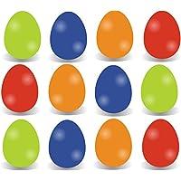 24x Farbige Ostereier Ostereier Eier Kunstoffeier Plastikeier aus Plastik, Kunststoff Pastell Farben aus Kunststoff Plastik zum Dekoration Deko an Ostern zum Aufhängen Osterdeko Osterdekoration Frühlingsdeko Aufhänger (24x Ostereier bunt)