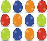 12x Farbige Ostereier Ostereier Eier Kunstoffeier Plastikeier aus Plastik, Kunststoff Pastell Farben aus Kunststoff Plastik zum Dekoration Deko an Ostern zum Aufhängen Osterdeko Osterdekoration Frühlingsdeko Aufhänger (12x Ostereier vollflächig)