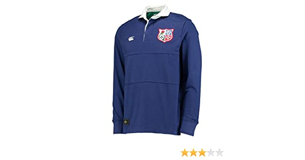 Canterbury British   Irish Lions 1888 L S Panelled Rugby Shirt - Faded Navy  - Size XL  Amazon.co.uk  Clothing 708e9a39c