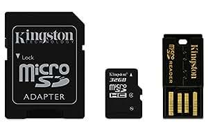 Kingston Mobility Kit Scheda micro-SDHC/SDXC 32GB Classe 4, con Adattatore SD e USB, 32 GB