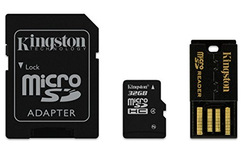 Kingston 4 Gb Sdhc Karte (Kingston Mobility Kit micro-SDHC/SDXC 32GB Klasse 4, Karte plus SD und USB-Adapter)